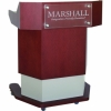 MLHEX-40 Hexagon Style Lectern in Figured Cherry