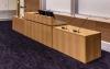 MDCD-87 Classic Style Deep Reveal Desk in Custom Rift White Oak - Front View