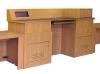 MDCD-87 Classic Style Deep Reveal Desk in Custom Rift White Oak - Close Up View