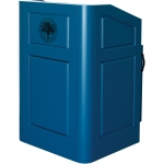 MLR-26 Radius Style Paint Grade Lectern in Sherwin Williams Oceanside SW6496 - Audience View