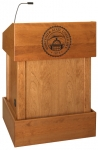 MLT-32 Traditional Style Lectern in Custom Cherry - Front View