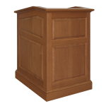 MRP-30 Raised Panel Style Lectern in Rift White Oak with a Custom Finish - Front View