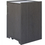ELCO™-DUO20 Mobile Rack Cabinet in Asian Night Melamine - Front View