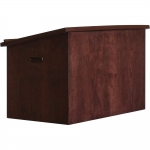 MPL-24 Open Back Desktop Lectern in Classic Cherry - Front View