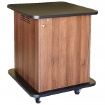 SCMR™-17 Mobile Rack Cabinet in Walnut Melamine - Front View