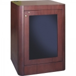 MRCS-42R Radius Style One-Bay Mobile Cabinet in Classic Mahogany - Front View