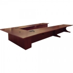 UST 144x216 U-Shaped Table in Custom Mahogany - Side View