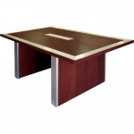 CTR 42x72 Rectangular Table in Custom Walnut - Front View