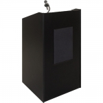 ELCO™-25 System Lectern in Black Melamine - Front View