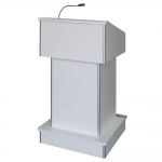 ELCO™-T25RC Traditional Style System Lectern in White Melamine - Front View