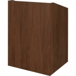 EXEC™-32SD System Lectern in Brown Walnut - Front View