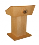 MLT-37 Traditional Style Lectern in Custom Maple - Front View