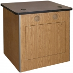 MRTA™-RCWS-34M Workstation in Oak Melamine - Front View