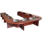 UST 32x258x180 U-Shaped Table in Classic Cherry