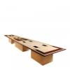 V-Shaped Video Conference Table in Natural Maple and Classic Walnut