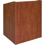 ELCO™-35DC System Lectern with Document Camera Drawer in Wild Cherry Melamine - Front View