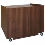 ELCO™-ADA-40 Desk in Walnut Melamine - Front View