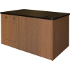 ELCO™-DSK-56 Desk in Cherry Melamine with Black Laminate Top - Open View