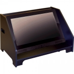 ELCO-MCMC-32 Stage Confidence Monitor Cabinet in Black Melamine - Front View
