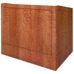 MLP-48 Prairie Style Lectern in Brown Cherry - Front View