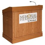 MLSM-48 Split Molding Style Lectern in Honey Cherry - Front View