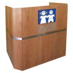 MLW-52 Wedge Style Lectern in Brown Cherry - Front View