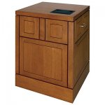 MWSFP-25 Flat Panel Style Workstation in Rift Cut White Oak - Front View