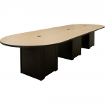 ELCO™ 12RT Racetrack Table with Hardrock Maple Top - Side View
