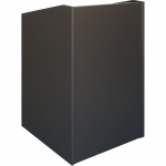 ELCO™-25 System Lectern in Slate Grey Melamine - Front View
