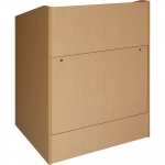 ELCO™-35 System Lectern in Maple Melamine - Front View