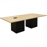 ELCO™ 8R Rectangular Conference Table with Fusion Maple Plastic Laminate Surface - Front View