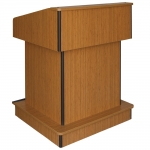 ELCO™-T32RC Traditional Style System Lectern in Asian Sun Melamine - Front View