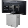 ELCO™-VTC-26 Mobile Video Display Cart in White Melamine - Back View