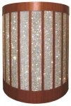 MELC-32 Ellipse Style Lectern in Custom Mahogany with Rhinestones - Front View