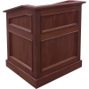 MLAQ-36 Antique Molding Style Lectern in Brown Walnut - Front View