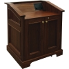 MLAQ-36 Antique Molding Style Lectern in Brown Walnut - Back View