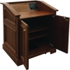 MLAQ-36 Antique Molding Style Lectern in Brown Walnut - Open View