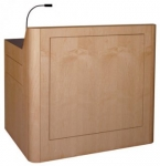 MLR-46 Radius Style Lectern in Natural Maple - Front View
