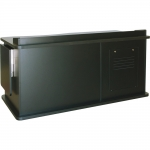 SCM™-640L Desk with Height Adjust in Black Melamine - Front View