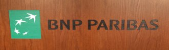 Laser Etched in Front Panel, Painted - BNP Paribas