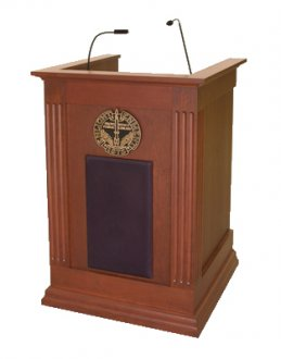 MLC-30 Column Style Lectern in Custom Cherry
