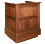 MRP-35 Raised Panel Style Lectern in Custom Walnut - Front View