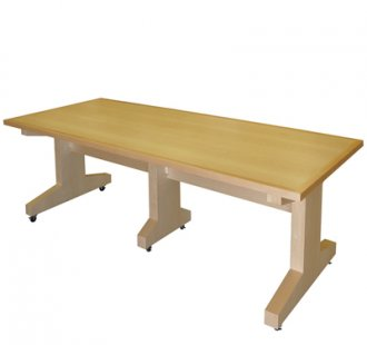 MTC 40x96 Training & Sectional Table in Natural Maple