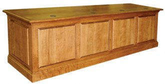 MDRP-120 Courtroom Table in Brown Cherry - Front View