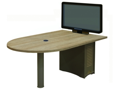 MCDST 42x60 D-Shaped Table