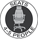 Seats 4-5 People