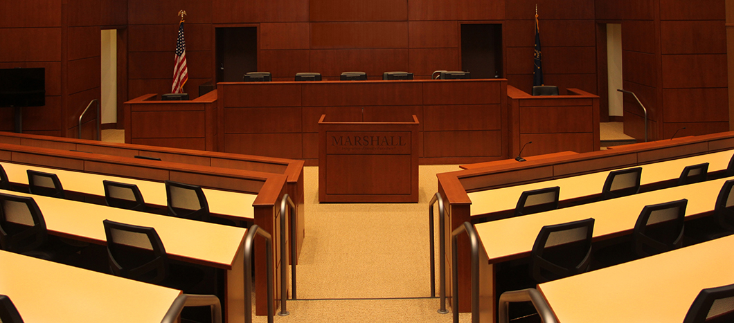 Courtroom with Marshall Furniture lectern