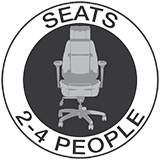Seats 2-4 People